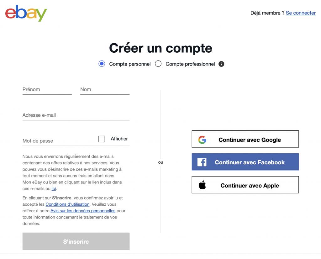 التسجيل في موقع ايباي eBay